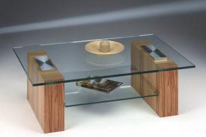 Glastisch mit Klarglas Ablage Image