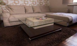 Glastisch mit Schubkasten Image