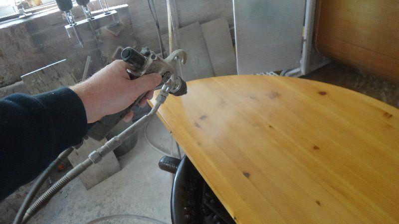 Tischplatte Kiefer massiv aufbereitet Image